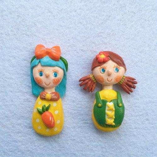 人偶玩偶娃娃可爱超轻粘土纸黏土陶土胸针别针饰品
