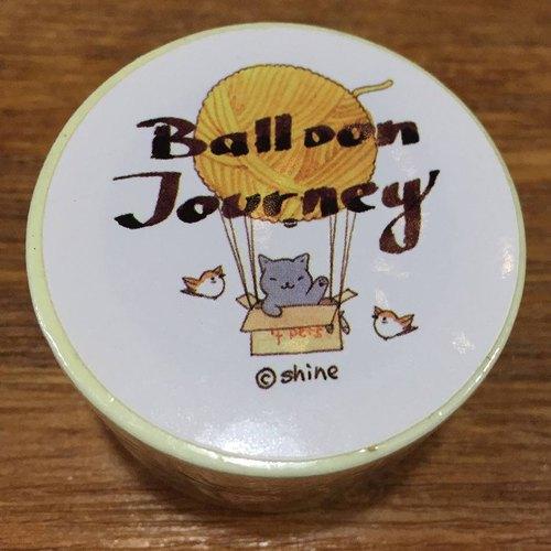 Balloon Journey小動物熱氣球之旅紙膠帶 3cm 10米