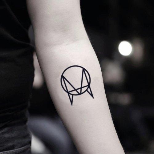tood 纹身贴纸   手臂位置 owsla logo 标志刺青图案纹身贴纸 (2枚)