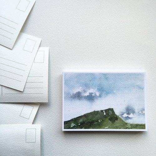 水彩明信片-愛丁堡/亞瑟的座山(單張)
