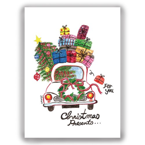 [圣诞节]手绘插画万用卡圣诞卡/明信片/卡片/插画卡--圣诞礼物