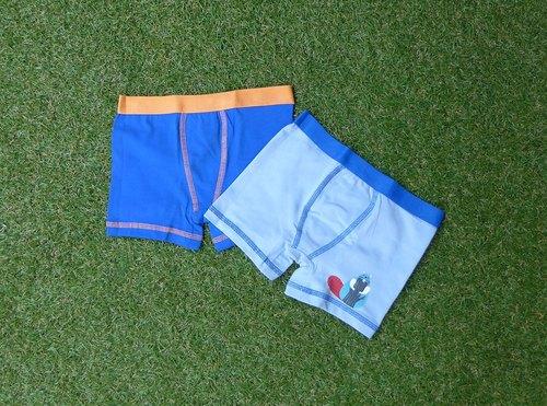 小熊/蓝色 小男孩二件组内裤