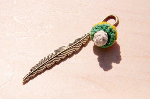 森林系 森林女孩手工编织棉麻书签 / 设计书签 / 古铜