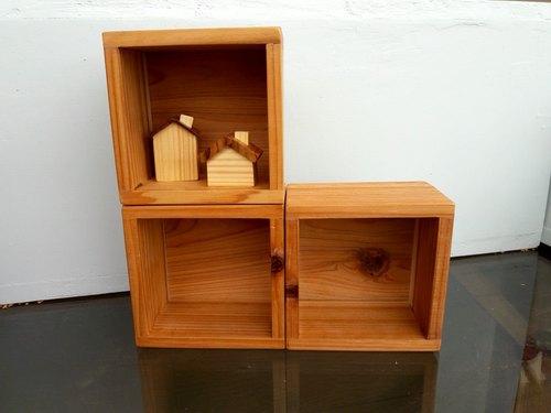 【木頭爵士】原木 ● 展示架 ● 收納盒
