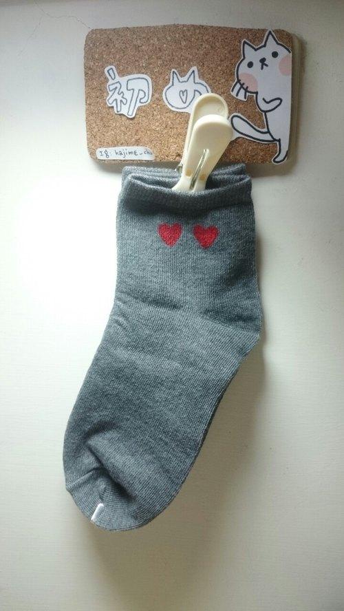 絹印 愛心光波襪子(不完美)
