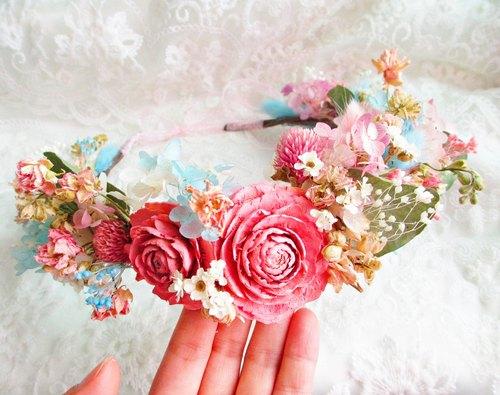 花环 新娘 伴娘 干燥花 不凋花 永生花 玫瑰 绣球 自助婚纱 外拍 婚