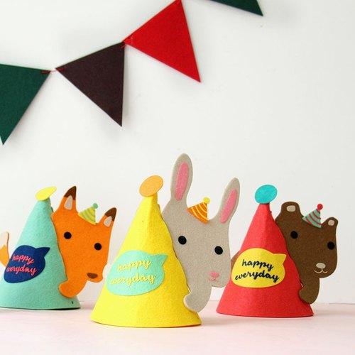 u-pick原品生活 创意可爱动物系列派对帽生日帽派对装饰装扮
