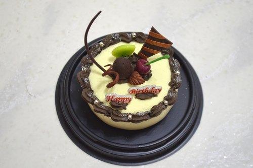 白色之恋巧克力蛋糕~树脂土 超轻土 黏土 生日 礼物 手工 礼品 摆饰