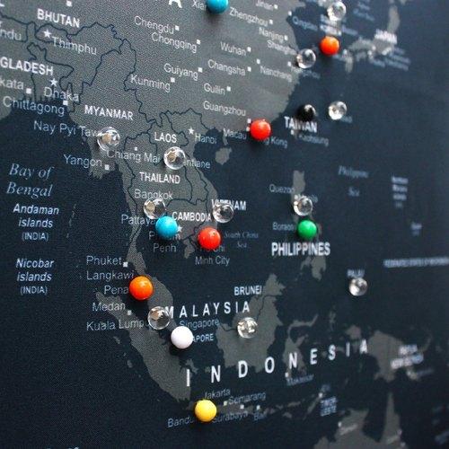 加購商品 - U Map。世界地圖專用水晶球釘-25顆