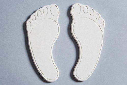 益康【珪藻土鞋片】-可愛腳ㄚ款 乾燥 消臭 除濕 乾爽 天然無毒 硅藻土 矽藻土 鞋墊 腳臭 除異味