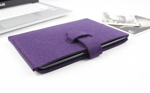 原創純手工 紫色 毛氈 微軟 電腦保護套 毛氈套 筆電包 電腦包 Surface Pro 4 加type鍵盤保護殼 type cover touch cover (可量身訂製) - 016