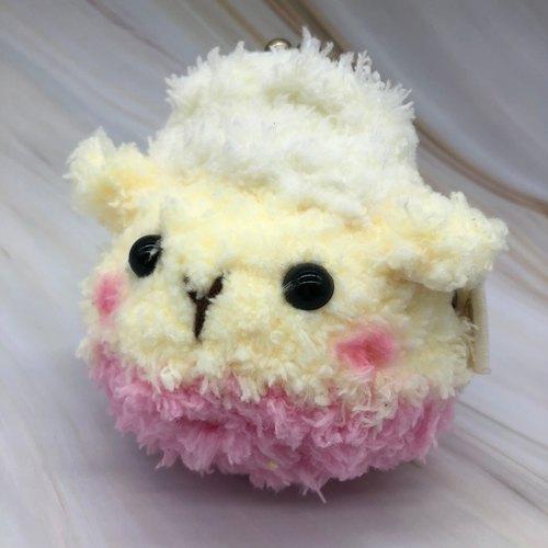 毛线编织动物零钱包 口金包-羊咩 - 小王子的棉花城堡