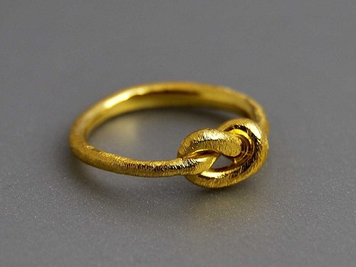 純銀鍍金/純金18k 簡約情侶訂婚求婚戒指 纏繞 流線線條 客制化尺寸 精致小巧簡約優雅創意設計生日禮物 R033 | 希臘原創手工飾品 This and That