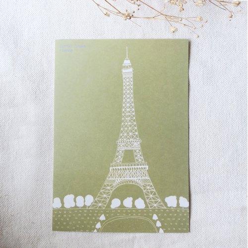 旅行风景-法国-巴黎铁塔 / 插画明信片 - hanart