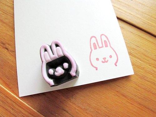 apu手工橡皮章 迷你小萌兔印章 手帐印章 - apus-box