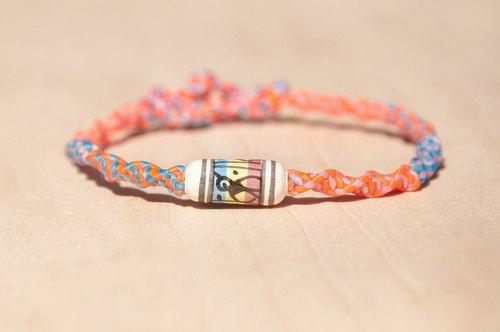 情人节礼物 缤纷编织麻花蚕丝蜡线手绳 - 手绘动物几何南美图腾彩色