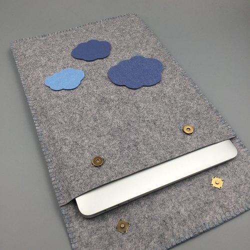 韓國毛氈 手工客製云朵 macbook ipad air pro 11 12 13 保護套 內膽包