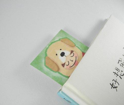 装扮动物系列:摇尾狗 插画小卡