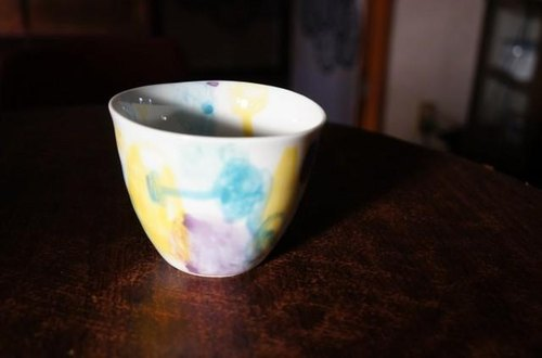 Irosome with watercolor cup buckwheat Inoguchi infc14018-007