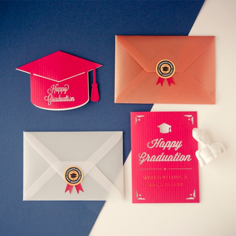 Custom graduation name cards kits | Ray Carve empty card |