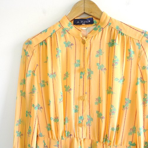 │Slowly│ Spring Series -.... Leaves vintage dress │ Nippon .vintage retro theatrical fresh sweet and lovely.