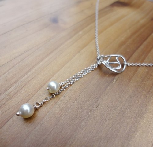 Ocean Gift Silver Necklace - Sterling Silver Pearl