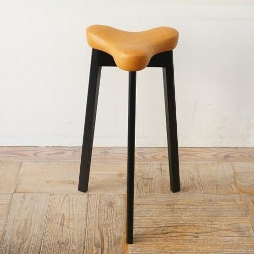 Kitchen stool Matabi (Black × Camel)