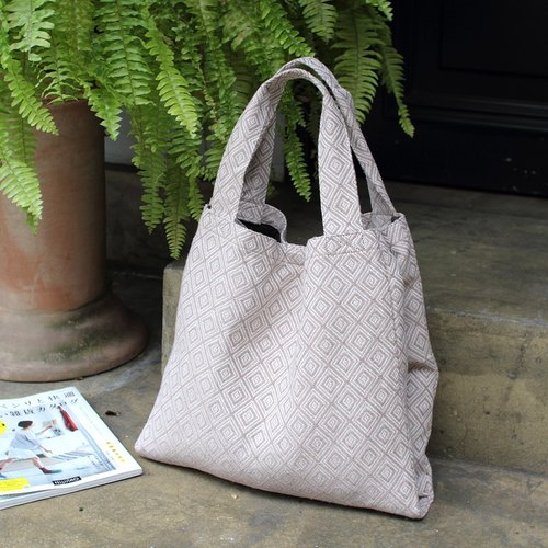Double Quilted Tote Bag - light pink lotus ★ 100414-61
