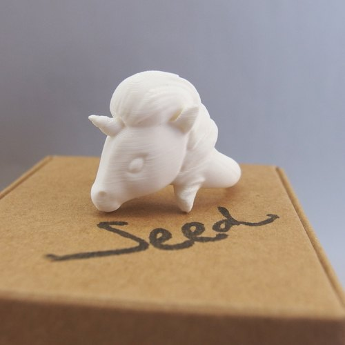 3D Printing - White Unicorn Ring