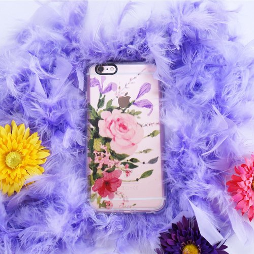 【Rose Garden】Onor Flora Impact Protection Phone Case iPhone 6S/i6S/iPhone 6 Plus/iPhone 6S Plus Oringinal TPU case/ soft case