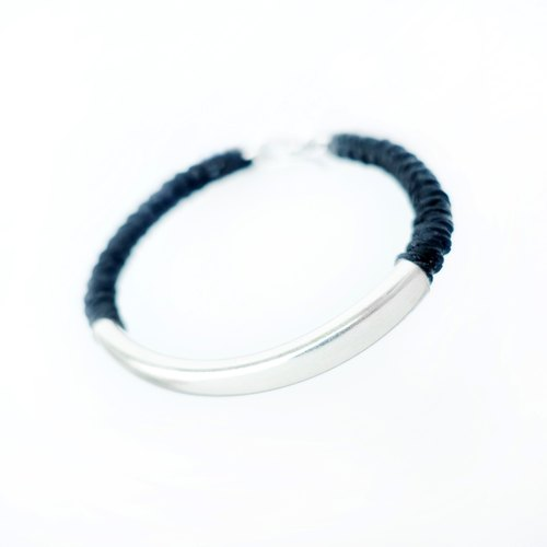 <SIMPLICITY>(Large) ​​Waterproof Braided Bracelet Anklet Sterling Silver Tube Valentine Friendship