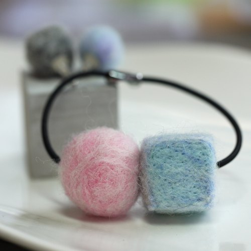 Wool felt rubber bands (multi-color options)