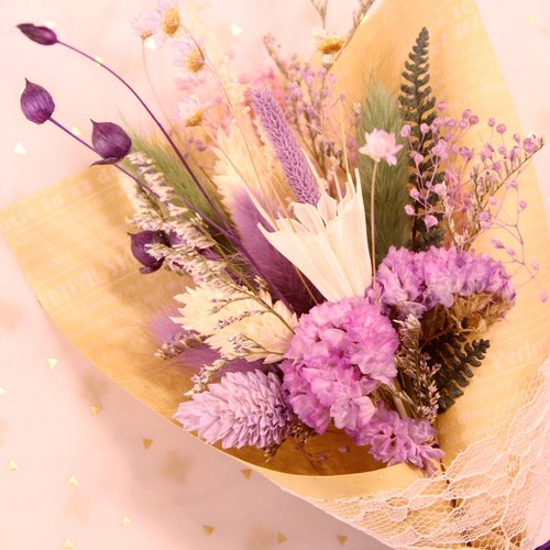 Beautiful Life │ │ rich hand-tied bouquet graduation season │M│ bonus handmade flowers and dried flowers card │ │ │ not withered flower bouquet graduation │ │ │ gift blessing │