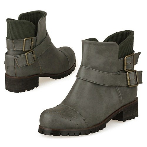 【Korean Style】SPUR Cute soldier boots 17080 KAKAI
