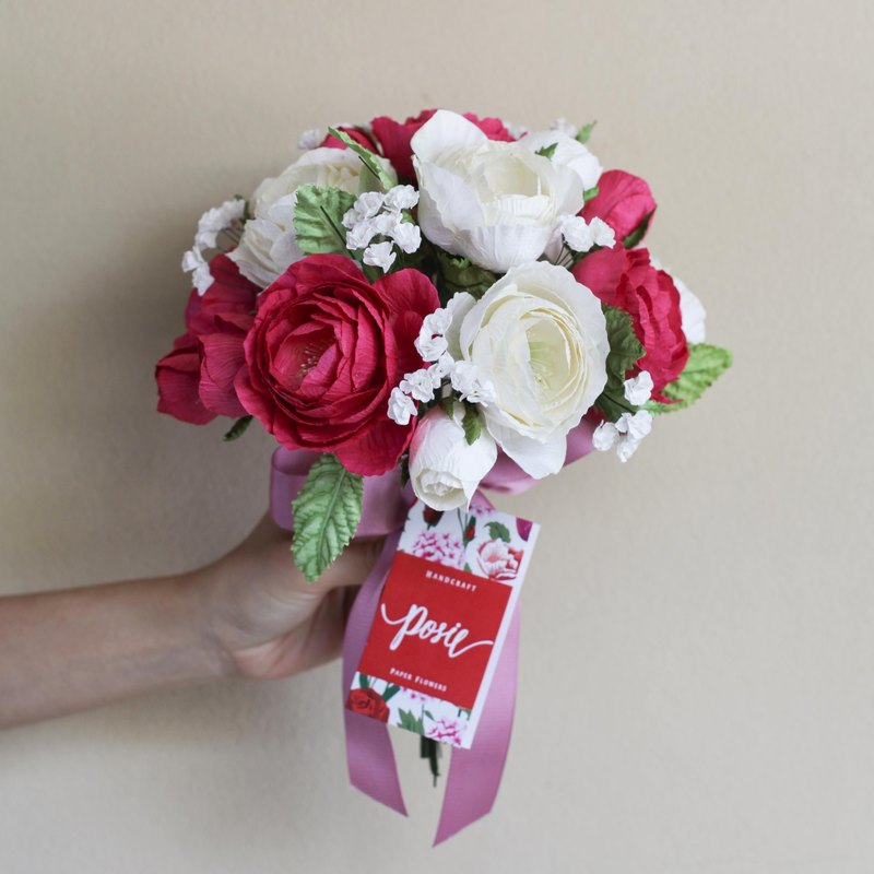 VB104 : Valentine's Day Bouquet, Pink Mauve