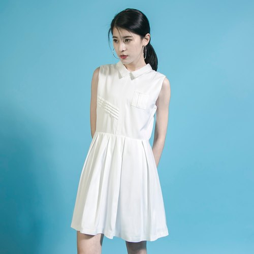 SU: MI said Mr.Charlie Mr. Charles Vest Dress White _6SF036_