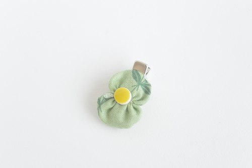 Baby butterfly hairpin - green leaf