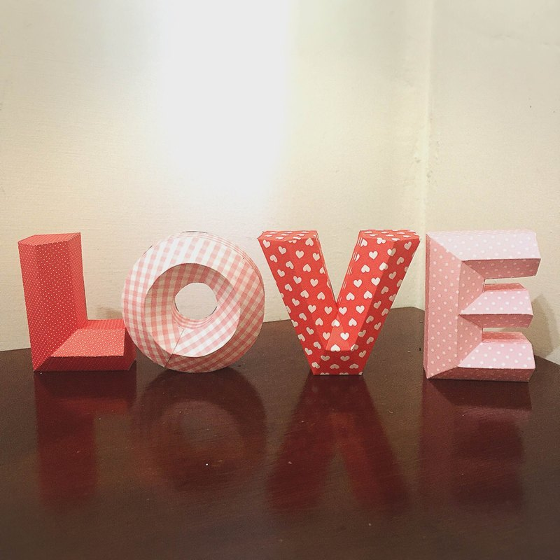 Wedding Decoration / wedding props / LOVE / three-dimensional character / small section / Pink this group