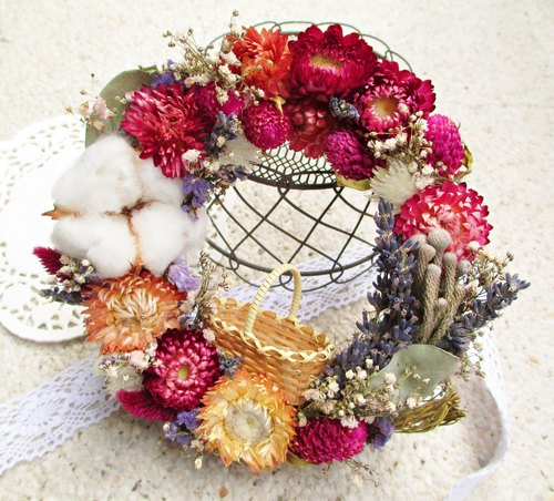 ❤ [feast ─ vanilla lavender circle children] ❤ dried wreath Rustic Style home decorations birthday gift Valentine's Day wedding arrangement lavender cotton