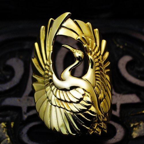 A gold ring crane [ROF002RG]