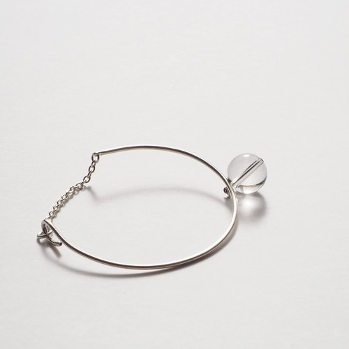Silver + crystal bracelet finite and infinite between