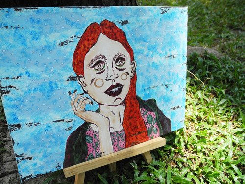 PuChi / Self-Portrait / girl remembered / Original paintings