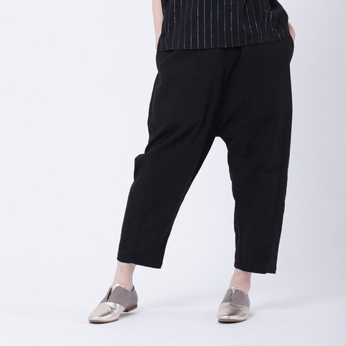 Max pockets carrot pants / black
