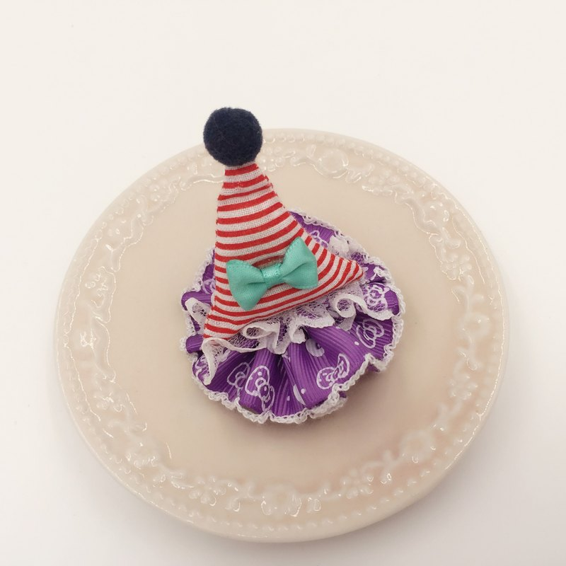 Cute party hats birthday hat. Hairpin / folder bangs