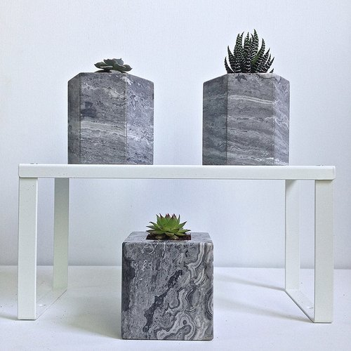 [Italian] Grey Italy Grey marble basin is potted flower home decoration 03