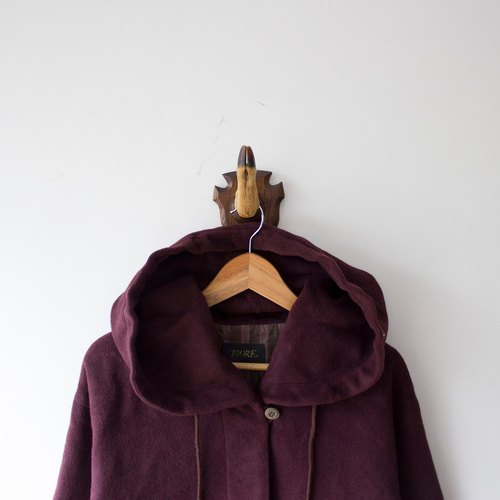 Banana cat. Banana Cats wine color Hooded Long oversize vintage fur coats