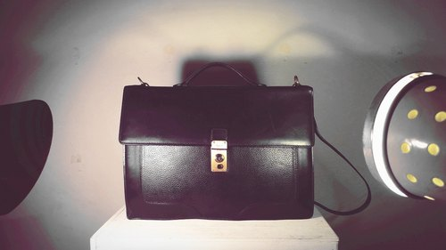 After ~ garden ~ Vintage BALLY black embossed briefcase