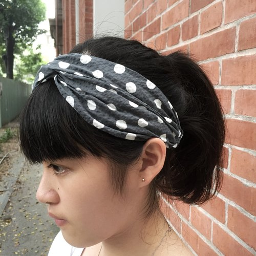 Bubble little tightness Wide / handmade hair band