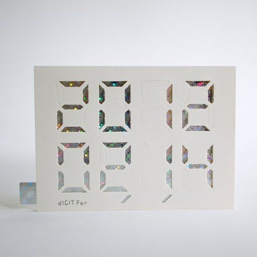 "Christmas New Year gift exchange / ""DIY stamp Day"" Digit Card / Card Digital Laser colorful digital version _ white"