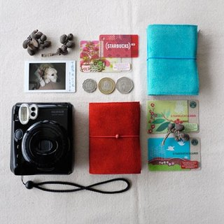 [Kaka & amp; sun] matte leather Polaroid album Handmade small objects